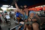 Tuktuk in der Rushour in Vientiane