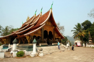 Wat Xiengthong am Morgen