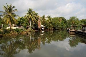 Der Khlong von Trat - spiegelglatt!