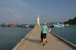 Leuchtturm am Ende vom Bang Bao Pier