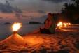 Lonely Beach illuminiert