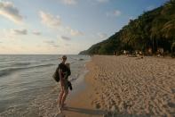 Maria am White Sand Beach