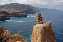 Ponta do Rosto, nicht nur unter Steinmännchen rege frequentiert