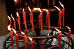 Die Kerzen trotzen dem Wetter