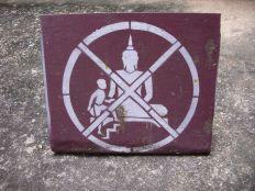 Don't climb on Buddha