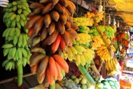Bananen gibts buchstäblich an jeder Ecke