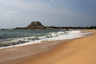 Safari-Rastplatz am Meer