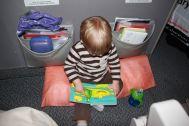 Lesepause vor dem Abflug