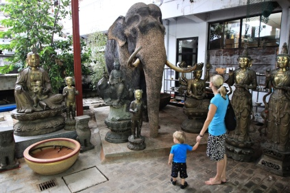 Gangaramaya Museum - nein, der ist nicht echt!
