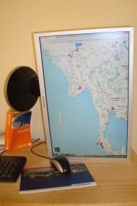 Wie macht man einen möglichst hochauflösenden screenshot einer Nord-Süd Route?