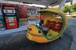 Auch Coco Taxis tanken nur normalen Sprit