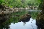 Bereit zum Abstieg: Der Cenote Cueva los Peces