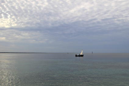 Wenig Verkehr in Playa Larga