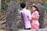 Hochzeitspaar beim Shooting am Phnom Banan