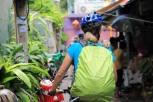 Bangkok, heftiger Regen - der Rucksack hält!
