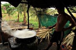 Hier wird Palmzucker eingekocht
