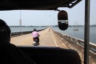 Brücke zur Grenze bei Ko Kong