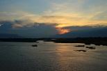 Sonnenuntergang auf der Heimreise