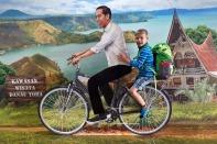 Werbung in Medan für den Toba See. Da wollen wir natürlich auch noch hin, aber nicht mit dem Rad :-)
