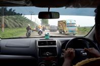 Auf dem Weg nach Bukit Lawang.